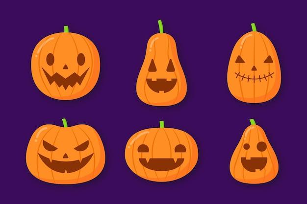 Collezione di zucca di halloween