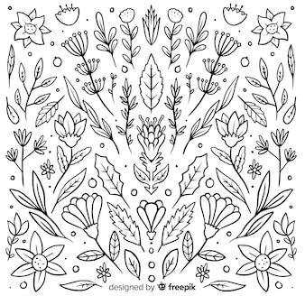 Collezione disegnata a mano ornamentale
