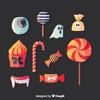 Collezione dolce di halloween ad acquerello