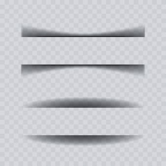 Collezione effetto ombra foglio di carta.