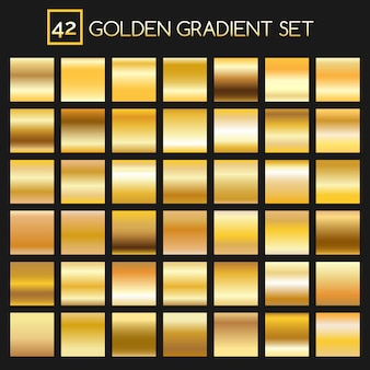 Collezione effetto sfumature dorate in metallo