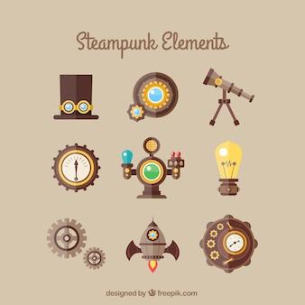 Collezione elemento steampunk