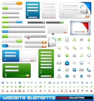 Collezione estrema di elementi di web design