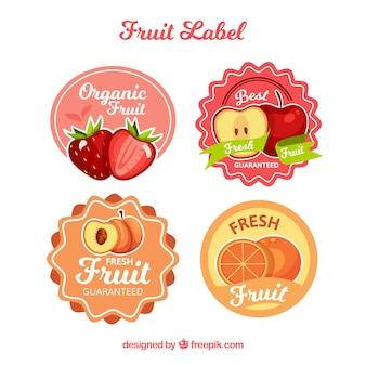 Collezione etichette di frutta