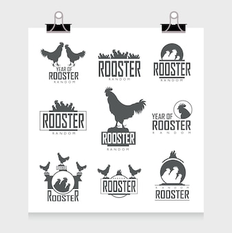 Collezione etichette gallo