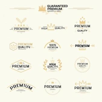 Collezione etichette premium