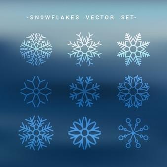Collezione fiocchi di neve set
