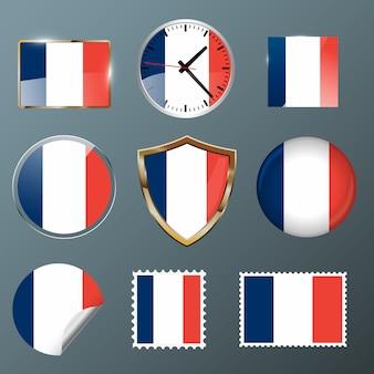 Collezione flag france