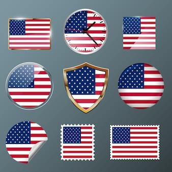 Collezione flag usa