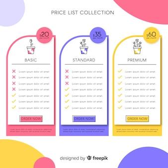 Collezione flat list list