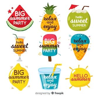 Collezione flat summer badge