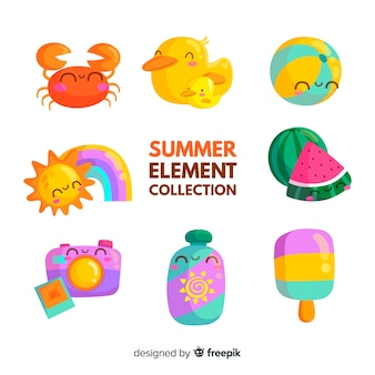 Collezione flat summer elements