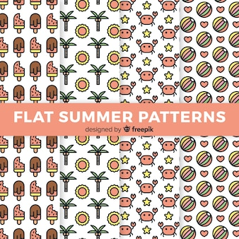 Collezione flat summer pattern