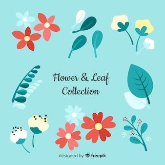 Collezione floreale disegnata a mano