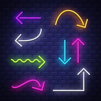 Collezione frecce al neon