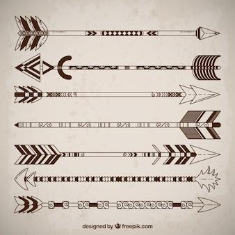 Collezione frecce etnici