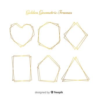 Collezione geometrica cornice dorata