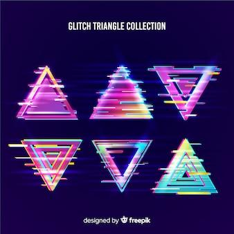 Collezione glitch triangolare