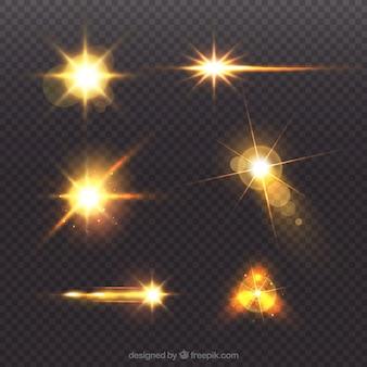 Collezione golden flare lens