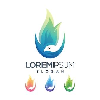 Collezione gradiente logo brid fire