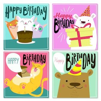 Collezione happy birthday card