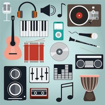 Collezione icone di musica