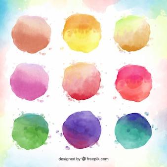 Collezione in raso acquerello colorato