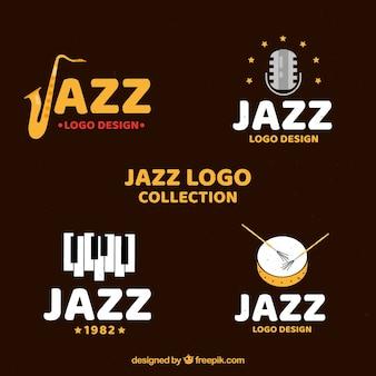 Collezione jazz logo con design piatto