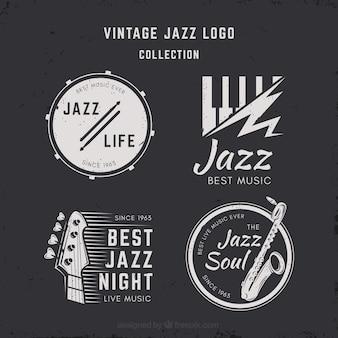 Collezione jazz logo con stile vintage