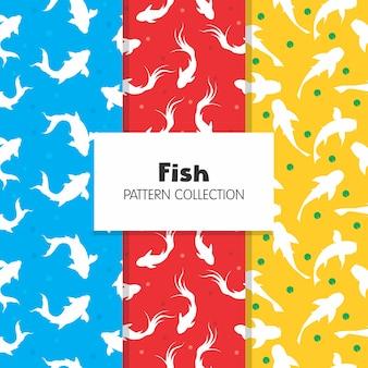 Collezione koi fish pattern