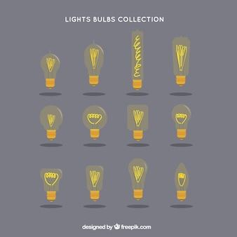 Collezione lampadine giallo