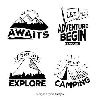 Collezione logo adventure