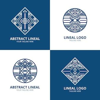Collezione logo astratto lineal