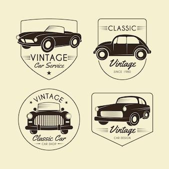 Collezione logo auto d'epoca
