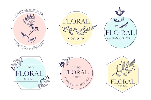 Collezione logo aziendale in stile minimal