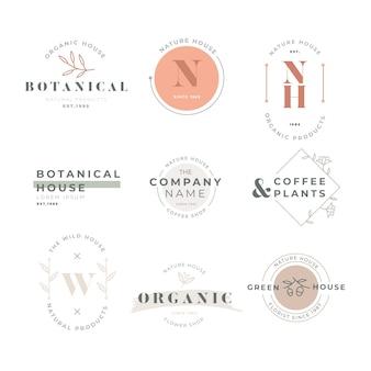 Collezione logo aziendale in stile retrò