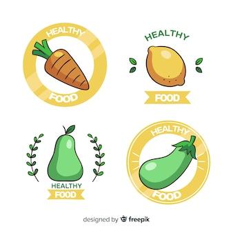Collezione logo cibo sano