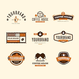 Collezione logo coffee shop