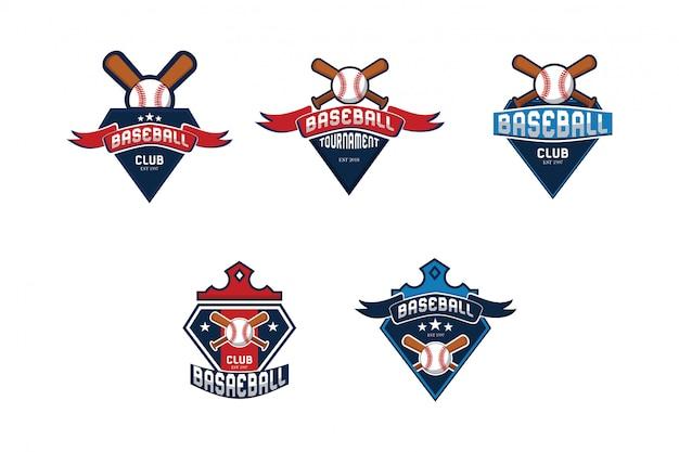 Collezione logo da baseball