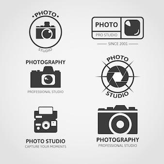 Collezione logo della fotocamera
