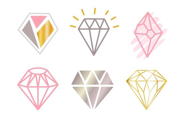 Collezione logo diamante