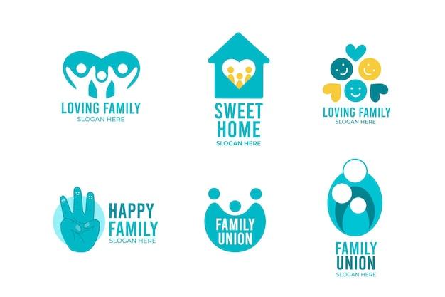 Collezione logo famiglia