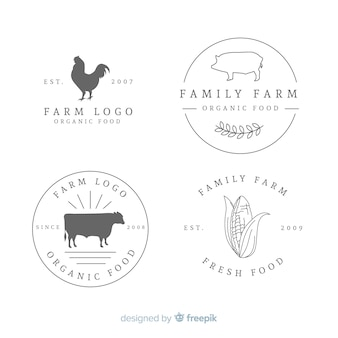 Collezione logo flat farm