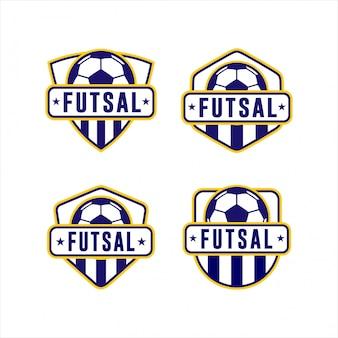 Collezione logo futsal cup league