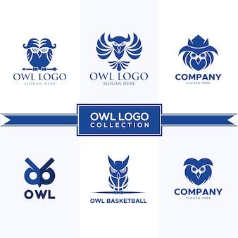 Collezione logo gufo