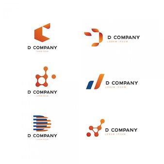 Collezione logo iniziale lettera d.