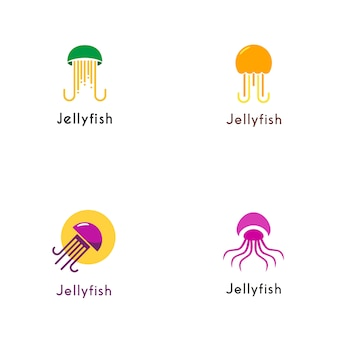 Collezione logo jelly fish