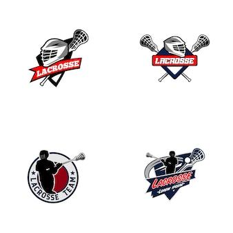 Collezione logo lacrosse