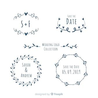 Collezione logo matrimonio