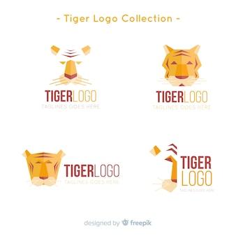 Collezione logo moderno tigre